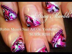 Neon Rainbow Nails! - No Water needed Drag Marble Nail Art Tutorial - YouTube