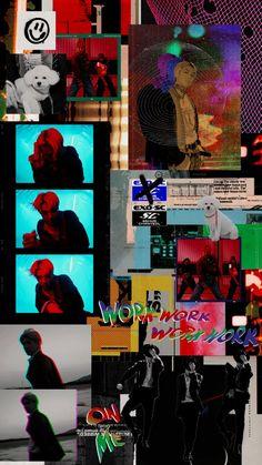 Cover Wallpaper, Retro Wallpaper, Screen Wallpaper, Iphone Wallpaper, Exo Kai, Exo Chanyeol, Kpop Posters, Grunge, Exo Lockscreen