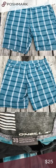 🆕 Listing! O'Neill Plaid Shorts! EUC! Dark teal plaid shorts. LC: USDBX1 O'Neill Shorts
