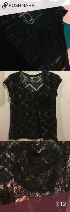 🎀kimchi blue lace top🎀 Very cute and flirty lace top. Super cute with any color tank underneath. Has a pocket on the left side. In excellent condition. Let me know if you have any questions. Thanks for looking. Kimchi Blue Tops