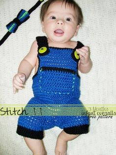 Free 3 Month Crochet Overall pattern