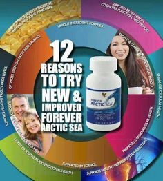 Forever Arctic Sea. New and improved Forever Arctic Sea® provides a perfect balance of Omega-3 fatty acids in a proprietary blend of natural fish oil and calamari oil to better support your cardiovascular system, brain, and eyes. This unique blend is exclusive to Forever Living and provides not only 33% more DHA per day, but creates the perfect balance of DHA and EPA for optimal health and wellness.
