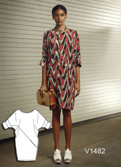 New Rachel Comey dress sewing pattern for Vogue Patterns. V1482