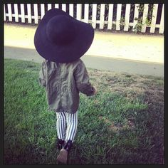 Alaia insisted on wearing this hat on our walk today! - @monicarosestyle- #webstagram