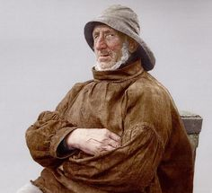 The Fisherman's Smock Native American History, Native American Indians, Old Fisherman, Sea Captain, Made Clothing, Male Photography, Nautical Fashion, Old Photos, Vintage Photos