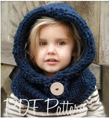 hooded snood kids knitting pattern - Google Search