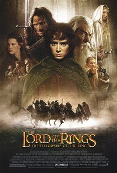 """""""Lord of the Rings: The Fellowship of the Ring"""" *Adventure/Fantasy by Peter Jackson (based on the novel by J. Tolkien) starring -- Elijah Wood, Ian McKellen, and Orlando Bloom Bon Film, Film Serie, Film 2001, Epic Film, Ian Mckellen, Elijah Wood, Viggo Mortensen, Orlando Bloom, Movie Posters"""