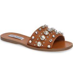 c2e04c525 Steve Madden Regent Embellished Slide Sandal (Women)