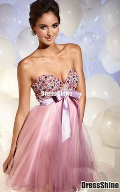 934c1f944ae A-line Strapless Sweetheart Neckline with Sequins and Bow Short Tulle  Homecoming Dress