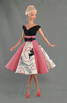 Vintage Barbie Clothes, Doll Clothes, Nice Dresses, Casual Dresses, Barbie Dress, Barbie Barbie, Daytime Dresses, Swing Skirt, Retro Toys