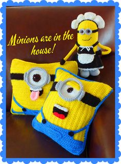 (4) Name: 'Crocheting : Free Minion Inspired Pillow+Doll Pattern