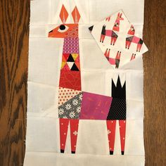 That time I drafted a #paperpiecing pattern based on the cool wrapping paper found at Target. #falalalalalalama #llamawrappingpaper #quiltinginspirationeverywhere