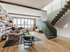Condo for sale in Le Plateau-Mont-Royal (Montréal) - $949,000 Condos For Sale, Apartments For Sale, Mont Royal Montreal, Conference Room, Stairs, Table, Furniture, Home Decor, Stairway