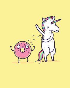 Unicorns... ehe! - I've always wondered how donuts get their sprinkles!