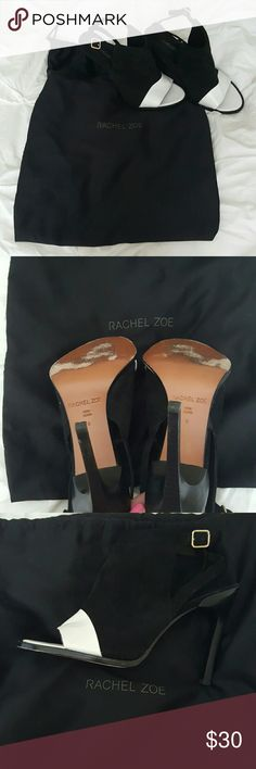 Rachel Zoe RACHEL ZOE Black and White  ankle heel. Size 8 Shoes Ankle Boots & Booties