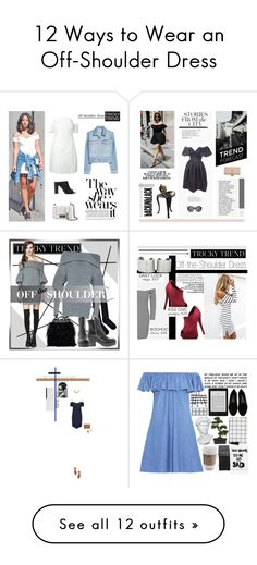 """12 Ways to Wear an Off-Shoulder Dress"" by polyvore-editorial on Polyvore"