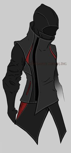 super awesome hoodie design for inspiration in shapes Style Badass, Anime Outfits, Cool Outfits, Character Concept, Character Art, Mode Sombre, Armor Concept, Concept Art, Superhero Design