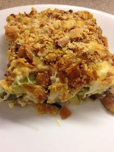 ..zucchini au gratin..low carb..gluten free..thm friendly