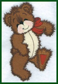 Threadsketches' Bearly Christmas, Christmas embroidery designs, teddy bear