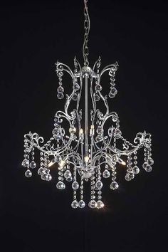 Z-Lite Parisian Crystal Chand. Collection Chrome Finish 8 Light Crystal Chandelier