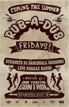 Rub-A-Dub Poster (Variation)