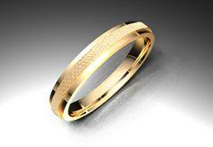 Crea tu joya - EXTREM. Alianza modelo biselada. Material oro rojo. Calibre 3,0mm; 3,5mm; 4,0mm o 4,5mm a elegir.