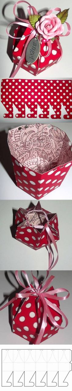 DIY Hexagonal Gift Box with Template LIKE Us on Facebook ==> https://www.facebook.com/UsefulDiy