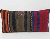 12x24 outdoor kilim pillow turkish pillow sham lumbar throw pillow turkish rug sofa throw pillow bohemian decor kilim cushion cover 26797