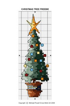 Michael Powell #Christmas tree #crossstitch