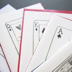 Pack of Cards Stationery, Set of 8 Blank Notecards- LOinLONDON® fine paper goods + whimsical design | www.loinlondon.com