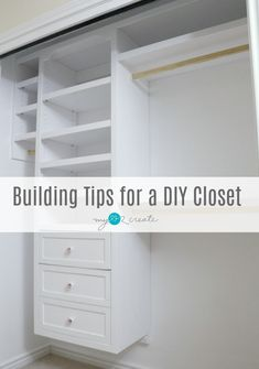 Awesome Building Tips for a DIY Closet by MyLove2Create.