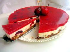 torta fredda alle ciliegie | dolce senza forno