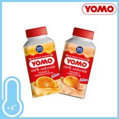 Yogurt da bere con frutta, 100% naturale. Gusti Agrumi di Sicilia ed Albicocca. Brick gr.250 a solo € 0,69!!!
