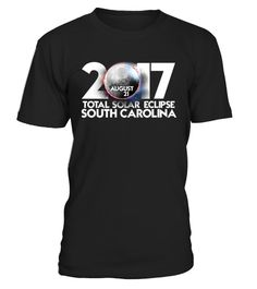"""# South Carolina Total Solar Eclipse Shirt .    The solar eclipse of 2017 is happening in America. Get this beautiful graphic tshirt showing ths moon covering the sun, with """"Eclipse 2017"""" overlayed. This is the ideal gift for astronomers or any one who is going to see the totality of the solar eclipse. The path of the total solar eclipse crosses the United States of America on 21 August 2017, make sure you grab this tee to celebrate this magnificent event. Be the envy of your friends with…"""