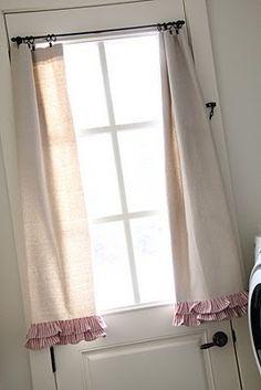 Cute burlap curtains