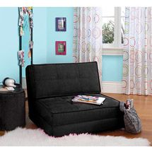 Non-Futon Option for Under a Full Bunk for guest  Walmart: your zone flip chair, multiple colors