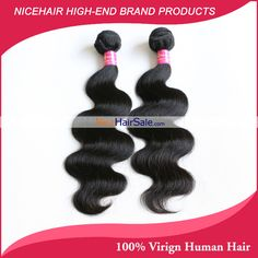 NiceHairSale Affordable Top Quality 7A 2 Bundles 100% Virgin Human Brazilian Body Wave Remy Hair Extensions On Sale #NiceHairSale #VirginHair #HumanWeave #RemyWefts #HairSale #HairExtensions #CheapHair #BrazilianHair
