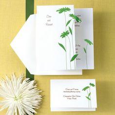 Delightful Daisies Wedding Invitation   Floral Wedding Invitations