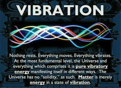 Everything in Universe is pure Vibratory Energy.