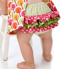 Baby Ruffle Pants / Ruffled Diaper Cover Pattern - PDF Sewing Pattern eBook. $6.95, via Etsy.
