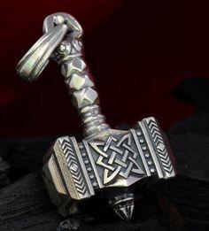 Silver Handmade 0.99oz 28g THORS HAMMER Pendant THOR Necklace Viking MJOLNIR New #Handmade #Pendant