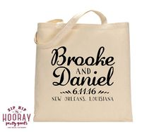 Welcome Totes Party Gift Bags Totes Bridal Party Tote Bags Canvas Bags Wedding Favor Totes Wedding Welcome Bag Bridal Shower 1509 by SipHipHooray