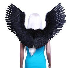 FashionWings (TM) Black Open Swing V Shape Costume Feather Angel Wings Adult Unisex FashionWings http://www.amazon.com/dp/B008I6TIK6/ref=cm_sw_r_pi_dp_vDNXvb14VHH0J