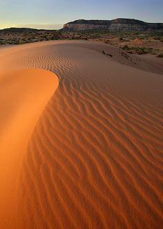 :) Coral Pink Sand Dunes Sunset
