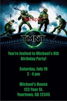 Teenage Mutant Ninja Turtles Invitations - TMNT     Teenage Mutant Ninja Turtles Invitations - TMNT