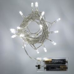 Battery Operated Fairy Lights with 20 White LEDs by Lights4fun: Amazon.co.uk: Lighting