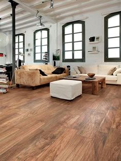 Porcelain Wood Tile Floors   I Love The Color And Style Of This Flooring.  Also A Lot More Durable / Low Maintenance Than Actual Timber