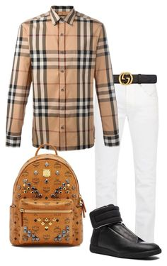 A fashion look from June 2017 featuring men's casual shirts, mens stretchy jeans and mcm mens backpack. Browse and shop related looks. Burberry, Gucci, Blue Nike, Tomboy Fashion, Acne Studios, Boy Outfits, Menswear, Shoe Bag, Luxury