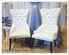Stunning King and Queens Chair rentals, also know as Bride and groom Chairs, beautiful and extremely comfortable. Love Seat rentals also available. Queen Chair, Table Centers, Wedding Rentals, Wedding Chairs, Table Centerpieces, Gta, Love Seat, Toronto, Garden Design