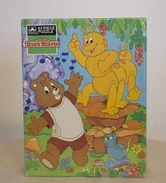 Vintage 1985 Teddy Ruxpin 63 Piece Puzzle NEW IN BOX, Unopened, Rare 1980's #Golden